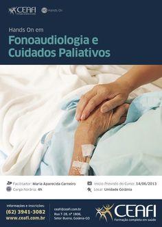 """Arte """"Fonoaudiologia e Cuidados Paliativos"""" para o CEAFI."""