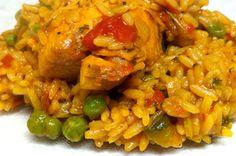 Healthy Diabetic Recipe for Arroz Con Pollo (Chicken and Yellow Rice)