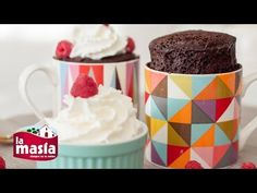 Recetas Recetas | Receta Brownie en Taza en 3 Minutos Brownie Recipes, Dessert Recipes, Desserts, Tapas, Cooking Time, Cooking Recipes, Latin American Food, Muffins, Sweet Recipes