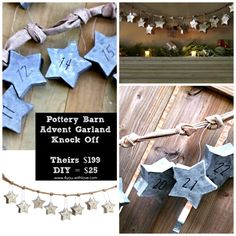 I love Pottery Barn's Star Advent Calendar Garland but not the $199 price. Come see my tutorial and you too can make your own for just $25!