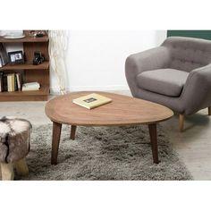 Table basse galet bois cannelle 102x72x47 FANNY PIER IMPORT