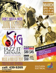 JAZZ IT GRENADA Music & Food Fest 2014 @ Prickly Bay Marina March 29th - 30th, 2014