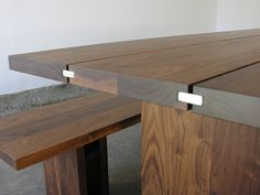 John Pawson Table at Matin in Los Angeles, Remodelista / Love the metal bar detail.
