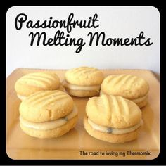 Thermomix: Passionfruit Melting Moments Mixing: There are different speed s. - New Ideas Cantaloupe Recipes, Passionfruit Recipes, Radish Recipes, Cheddarwurst Recipe, Frangipane Recipes, Mulberry Recipes, Spagetti Recipe, Szechuan Recipes, Deserts