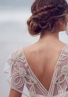 A nice #twist on the #openback concept for #weddingdresses