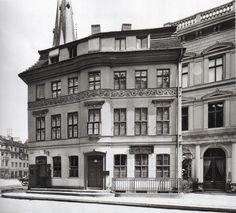 Das Knoblauchsche Haus in der Poststraße 1910.