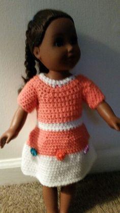 American girl crochet bath dress