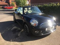 eBay: MINI COOPER CONVERTIBLE 2011 ZR32 1.6D BLACK CHILI SPORTS PACK LEATHER INTERIOR #minicooper #mini