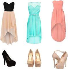 hi-low dress and high heels | Wheretoget.it