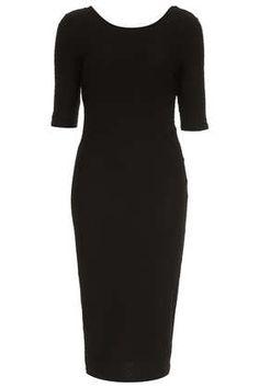 Textured Midi Bodycon Dress