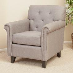 Home Loft Concept Veronica KD Tufted Linen Club Chair
