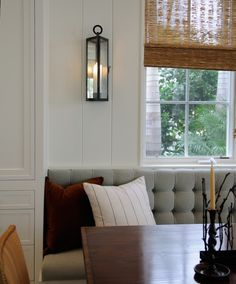 Love the look, texture and design of this banquette seating.