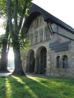Remaining facade of a medieval chapel in Goslar