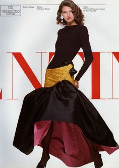 Linda Evangelista for Valentino 1987