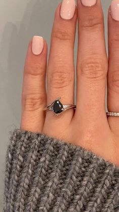 Our client wanted something unique - something with a bit of a twist - her wish was our command. In the center of this beautiful platinum setting you will find an amazing and one-of-a-kind 1 carat black pear diamond center stone. Setting only cost: 14k Rose, White, or Yellow Gold setting $1800 18k Rose, White, or Yellow Gold setting $2000 Platinum setting $2400 #kenanddanadesign #customdesign #nycjeweler #customengagementring #uniqueengagementring #blackdiamond #peardiamond #splitshank…