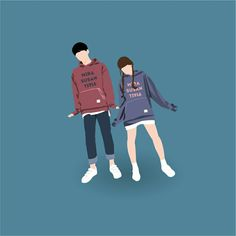 Ideas Wall Paper Cartoon Couple Illustrations For 2020 Cute Couple Drawings, Cute Couple Art, Anime Love Couple, Cute Anime Couples, Cute Couple Cartoon, Cover Wattpad, Wattpad Cover Template, Wallpapers Tumblr, Cute Wallpapers