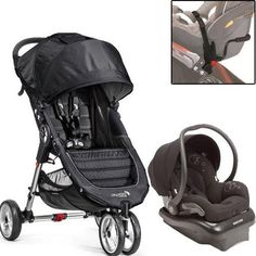 Baby Jogger City Mini Mico AP Travel System  Devoted Black  BlackGray *** Read more at the image link.