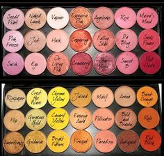 MAC EYESHADOWS ~ Pinks -Jest, Expensive Pink, Rose, Cranberry - Yellow and Gold Favorites - Rule, Goldmine, Amberlights and Firespot