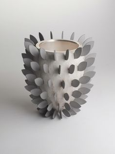 Chris Knight, Silver Bullet Vase with Leaves, Maison Gerard
