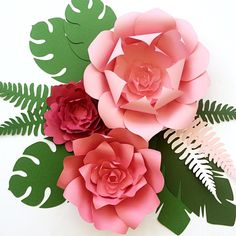 It's all about the #tropical #flowers and leaves These pretties will be available on Monday AND new leaf templates too!