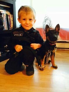 Little Boy and German Shepherd Puppy .... in Training - Adorable Pair!  | See more fun videos here: http://gwyl.io/