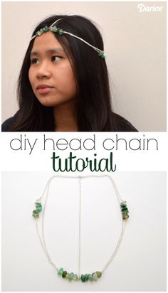 For a twist on the conventional hair accessory make a DIY head chain wrap with stone beads. It's like jewelry for your hair & easier to make than you think!