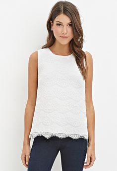 Eyelash Lace Top | Forever 21 - 2000142484