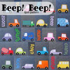 Beep! Beep! Cars and Trucks Quilt Pattern (digital PDF pattern)