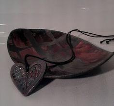 EstrellaYCorazon - ciotolina e ciondolo cuore in ceramica taku