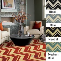 upstairs bedroom@Overstock - Forget boring stripes and go with the delightful zigzag pattern of this contemporary chevron area rug. This retro rug is offered in four different colors to match your style. The stain-resistant, plush weave makes it a great option for your game room.http://www.overstock.com/Home-Garden/Classic-Chevron-Area-Rug-8-x-10/7212916/product.html?CID=214117 $215.99