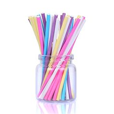 Colored Lollipop Sticks 4 inch Paper 100 count Blue White Purple Yellow Rosered 4 inch 5 Colors * Continue to the product at the image link.
