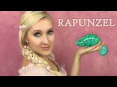 Rapunzel hair and makeup - 5 strand braid  tutorial and soft waves | If Disney Princesses were Real