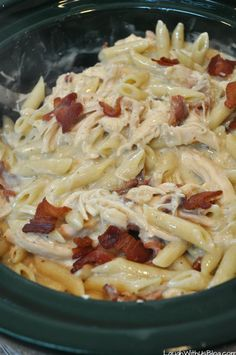 Bacon Ranch Chicken Penne Pasta for the Slow Cooker Bacon. Bacon Ranch Chicken Penne Pasta for the Slow Cooker Bacon Ranch Chicken Penne Pasta for the Slow Cooker Slow Cooker Bacon, Crock Pot Slow Cooker, Slow Cooker Recipes, Cooking Recipes, Cooking Pasta, Cooking Bacon, Crock Pot Food, Crockpot Dishes, Crockpot Meals