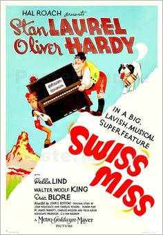 SWISS MISS Stan Laurel Oliver Hardy on US 1938.