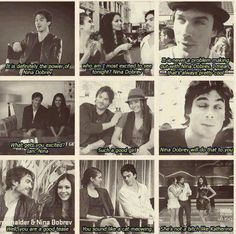 Haha Ian Somerhalder about Nina Dobrev - how cute! The Vampire Diaries. Serie Vampire Diaries, Vampire Diaries Quotes, Vampire Diaries The Originals, Damon Salvatore, Ian Somerhalder, Nina Dobrev, Elena Gilbert, Ian And Nina, The Salvatore Brothers