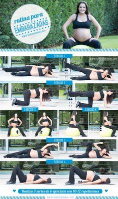 No dejes de hacer ejercicio aunque estes embarazada. Realiza esta rutina 3 veces por semana :)