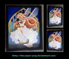 11 x 14 Alfheim Asuna Shadowbox by The-Paper-Pony on DeviantArt