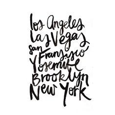 LA, Las Vegas, San Francisco, Yosemite, Brooklyn, New York / Jasmine Dowling