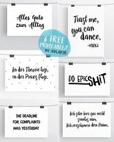 Free Printables: 6 Typo Freebies
