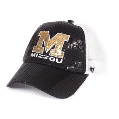 69295bb82c0c1 Mizzou Women s Block M Sequin Trucker Hat