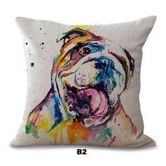 Daisymae Home Bulldog Pillow Cases