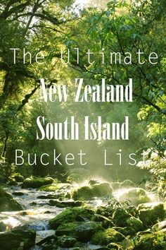 South Island New Zealand is filled with so much beauty. This bucket list will help you discover the best places to go in South Island New Zealand! New Zealand Itinerary, New Zealand Travel Guide, New Zealand Tours, Living In New Zealand, New Zealand South Island, Auckland, Nz South Island, Moving To New Zealand, New Zealand Adventure