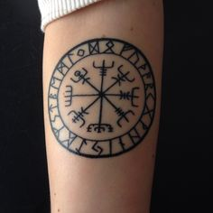 Nordic Compass tattoo done by Tyler Kolvenbach from Hudson Valley Tattoos in NY