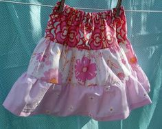 Little Girls Tiered Skirt #clothing #sewing #girls