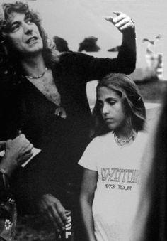 Robert Plant   Led Zeppelin & daughter Carmen Jane 1979