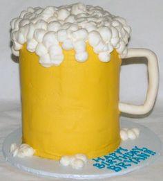 A beer mug-shaped cake is almost as good as cake-flavored beer!