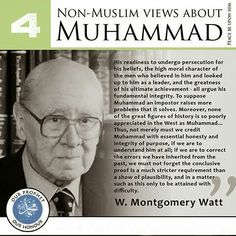 Montgomery - Non Muslim views about Islam, prophet Muhammad (pbuh) Islamic Inspirational Quotes, Religious Quotes, Islamic Quotes, Arabic Quotes, Hindi Quotes, Famous Quotes, Hadith, Alhamdulillah, Le Prophete Mohamed