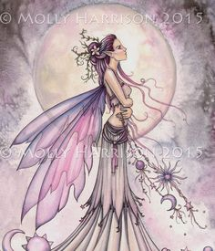 Ziarre (goddess of the sky) https://www.etsy.com/listing/226203483/ziarre-celestial-fairy-watercolor