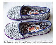Pattern by Ingunn Santini. http://www.ravelry.com/patterns/library/home-shoes---super-simple-sophie-and-me-slippers ༺✿ƬⱤღ http://www.pinterest.com/teretegui/✿༻