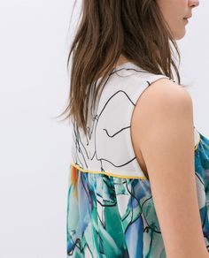 Image 5 of CROP FLORAL TOP WITH FRILLS from Zara